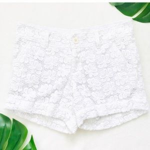 Lilly Pulitzer The Callahan Shorts in white lace